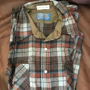 Pearl snap Pendleton wool shirt